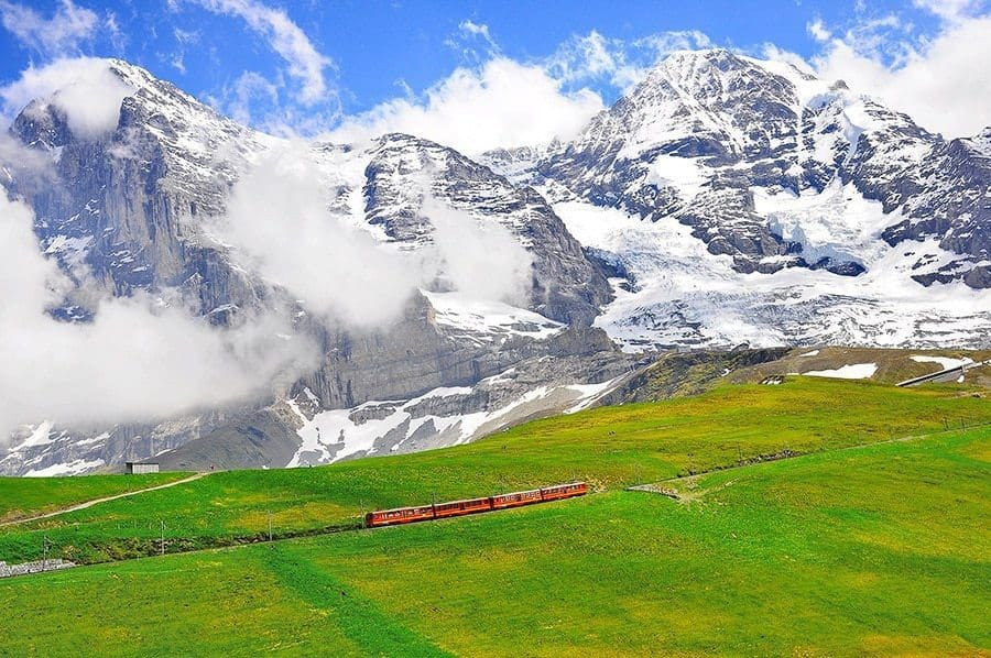 Cogwheel Train From Jungfraujoch Station