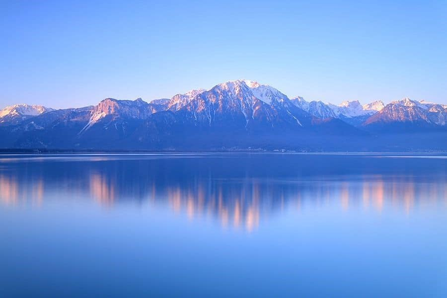 Switzerland Landscape : Lake Geneva of Montreux