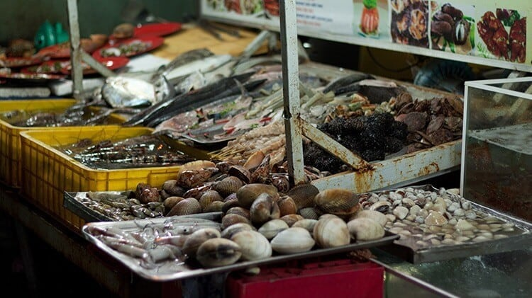 seafood in night market in Phu Quoc Island