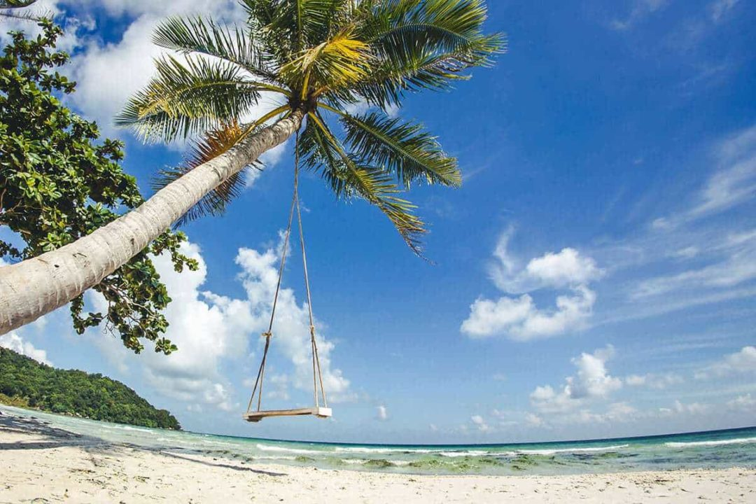 Things to do in Phu Quoc island. Tropical holidays background.