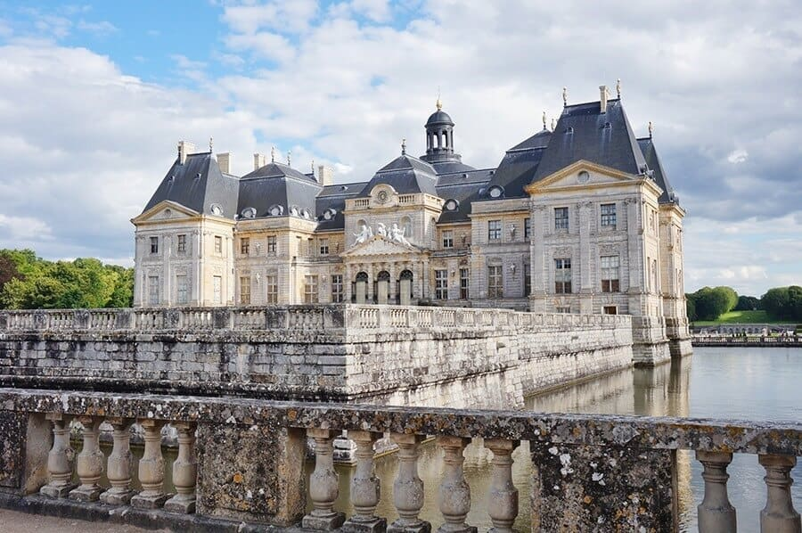 The Chateau de Vaux-le-Vicomte castle in France