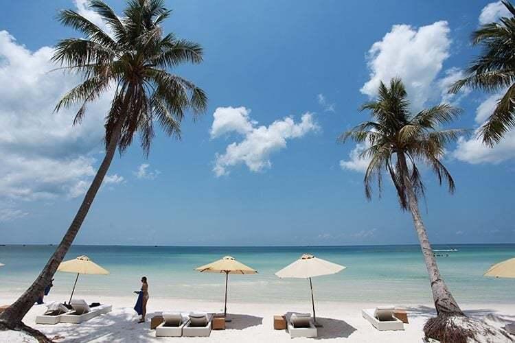The beautiful beach at Phu Quoc island - Vietnam