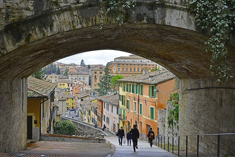 A beautiful ancient city Perugia in Italy
