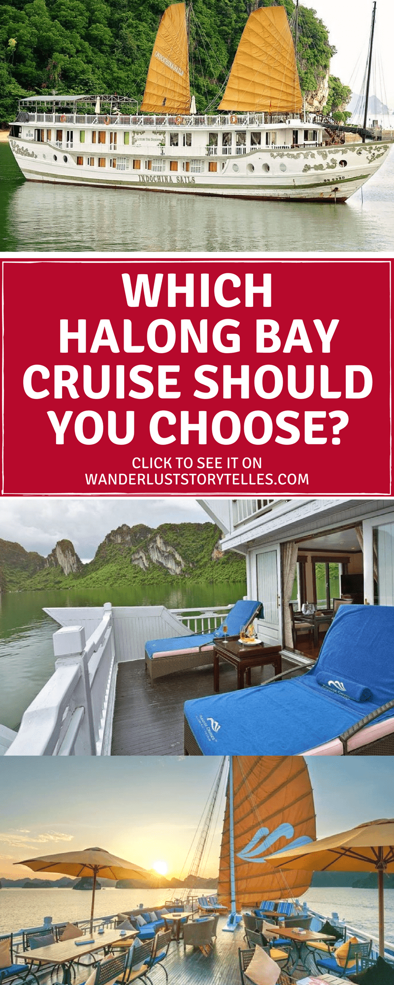Wondering which Halong Bay cruise to choose for your Vietnam holiday? The decision can be slightly overwhelming, so we wanted to help you choose the right cruise for you! Visit our guide to make it easy peasy!  #vietnam #cruise #asia