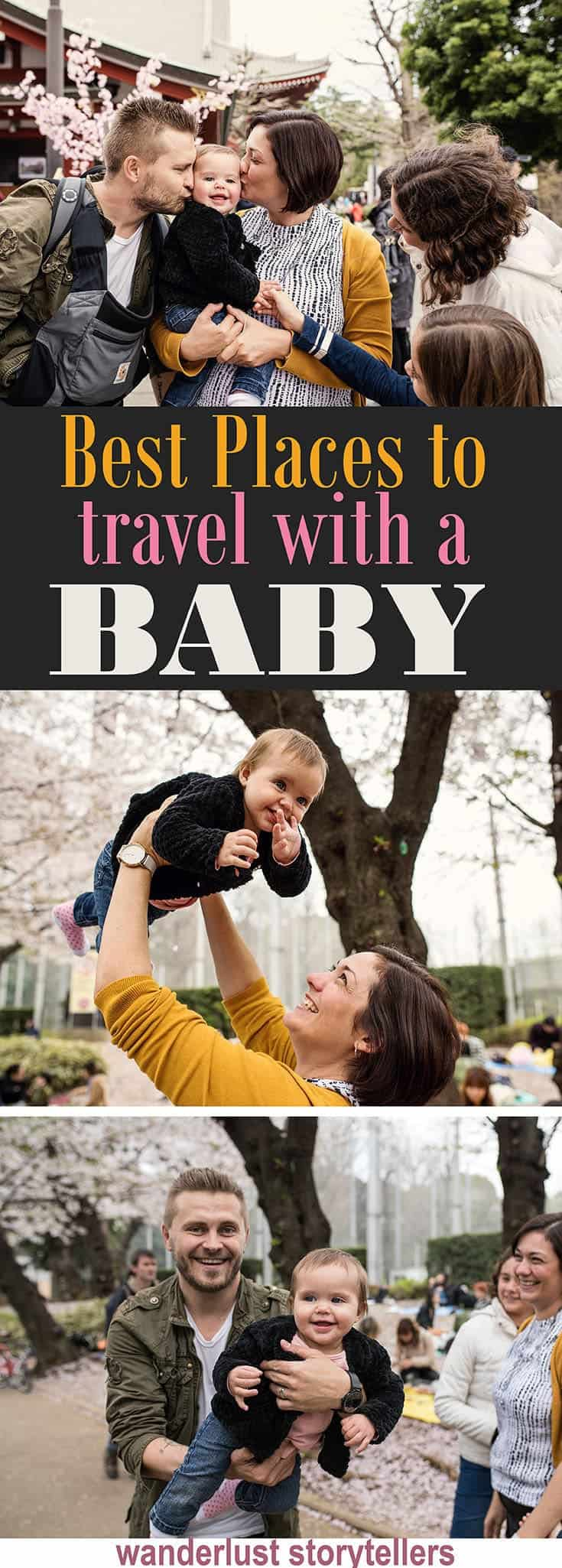 17 of the best places to travel with a baby on your family vacation! //////////////////////////////////////// Where to Travel with a Baby | Baby Travel Destinations | Holiday with Baby Ideas | Family Vacation Destinations