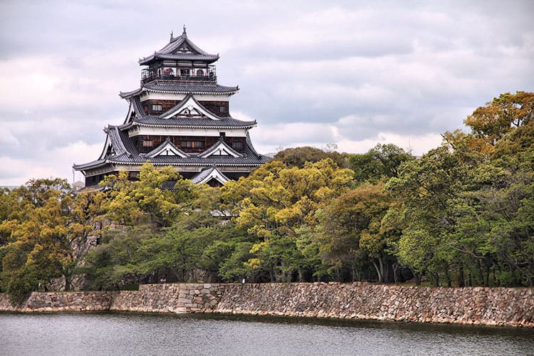 Hiroshima castle, Japan