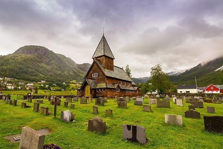 Roldal Stave Church in Norway