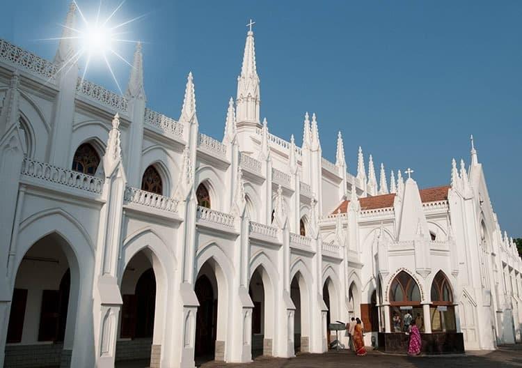 San Thome Basilica Cathedral / Church in Chennai (Madras), South