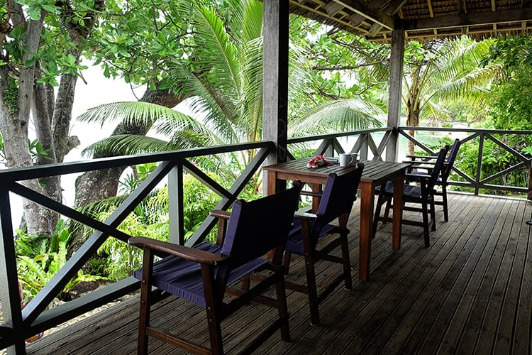 Santo Island Family Accommodation Patio