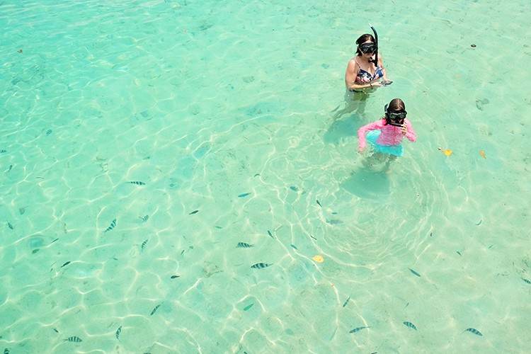 Snorkelling on Aore Island