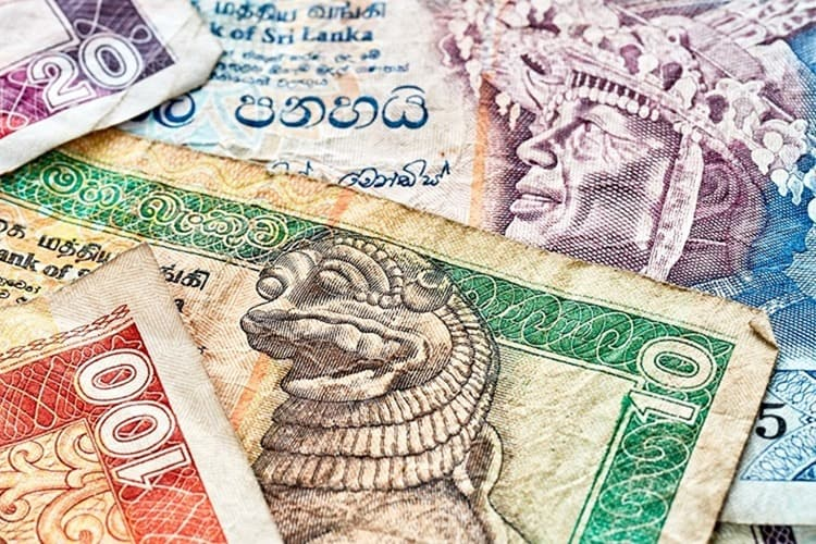 Close up picture of Sri Lankan rupee