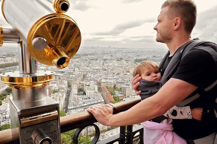 Eiffel tower with a Baby