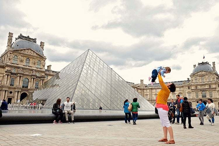 Louvre with a Baby