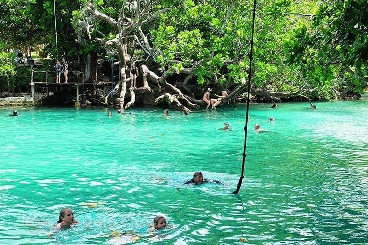 Swing at Blue Lagoon Vanuatu