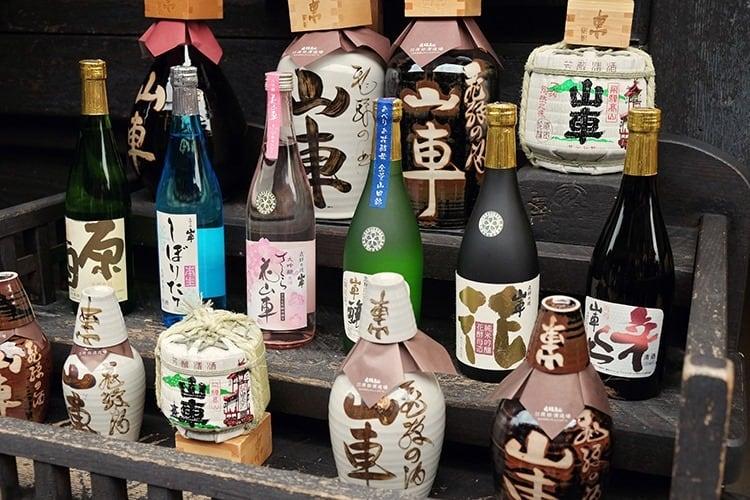 Wine in Takayama Sanmachi