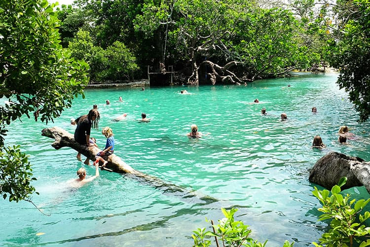 Blue Lagoon Vanuatu Island