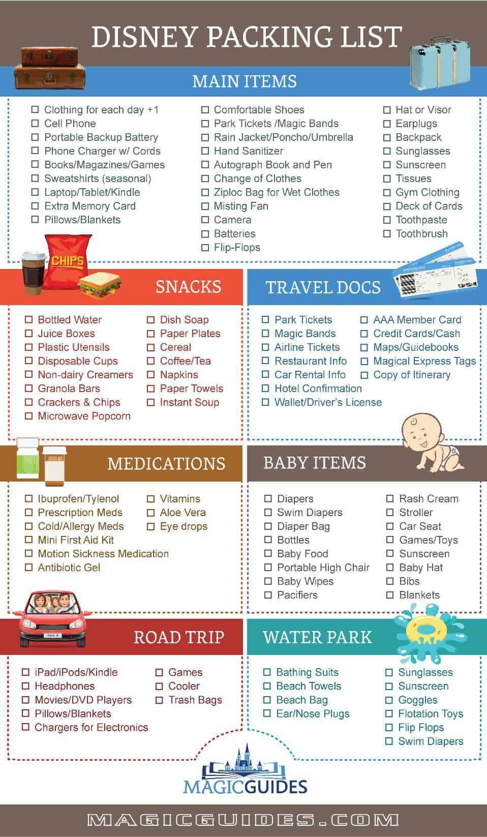 Disney Packing List PDF