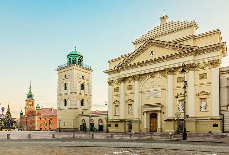 Saint Anne church on the castle square in Warsaw, Poland
