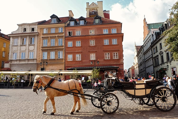 Warsaw Attractions - Horse and Carriage