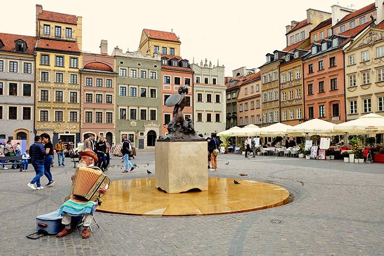 Warsaw Market Sqaure in Poland