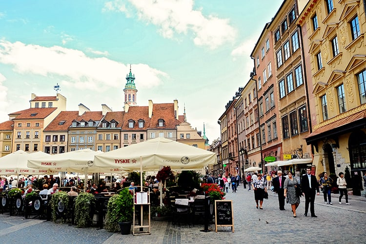 Warsaw Old Market Square Poland