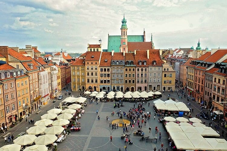 Warsaw Old Town Market Square View
