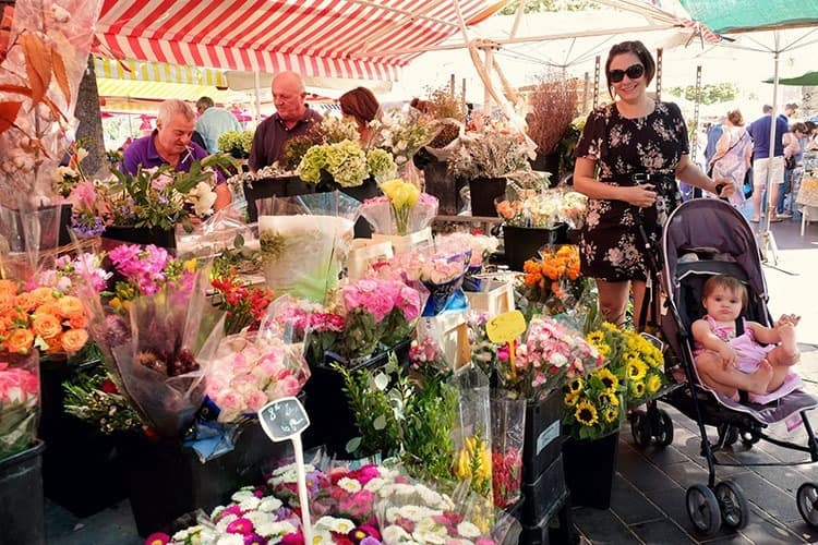 Flowers at Cours Saleya Market