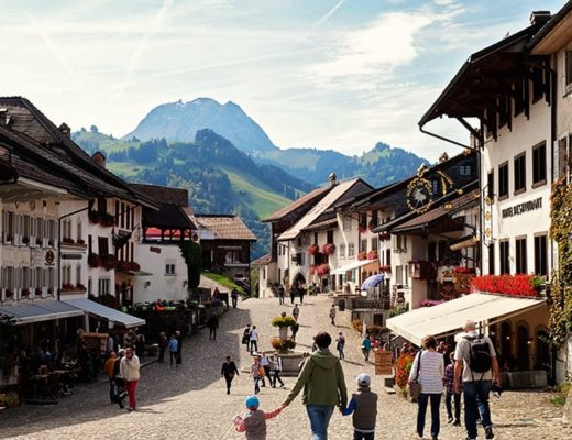 Gruyères Village in Switzerland