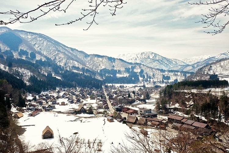 Lookout at ShirakawaGo Village in Japan