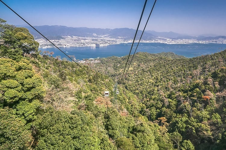 Miyajima Ropeway, the gondola in Mt Misen, Japan.