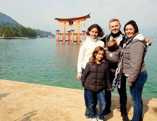 Torii Gate Miyajima Island with Kids