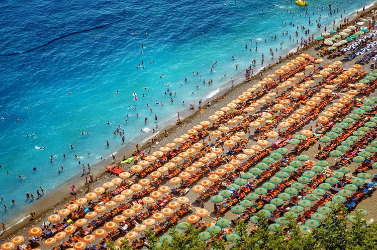 Best Beaches in Positano Amalfi Coast Italy