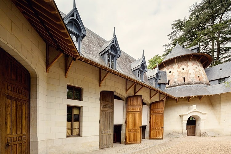 Carriage stables at the Chateau Chaumont in the Loire Valley, France