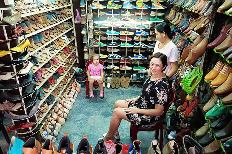 Getting shoes made in Hoi An Vietnam