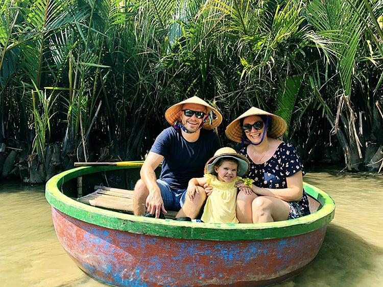 Hoi An Coconut Basket Boat