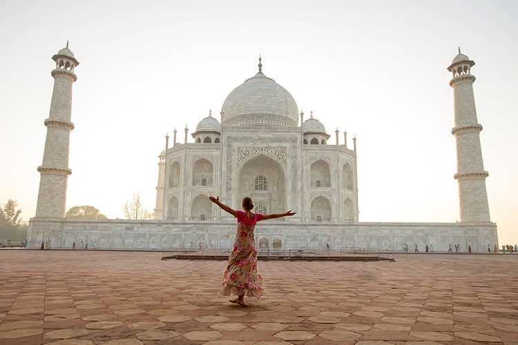 Taj Mahal in sunrise light, Agra, India