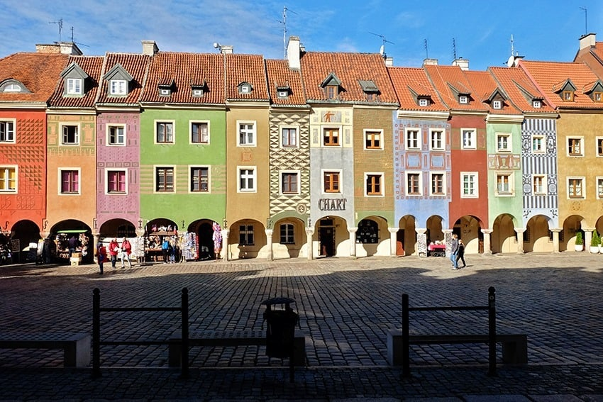 Merchant's Row in Poznan Old Town Market Square