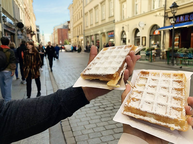 Best things to eat in Krakow Gofry