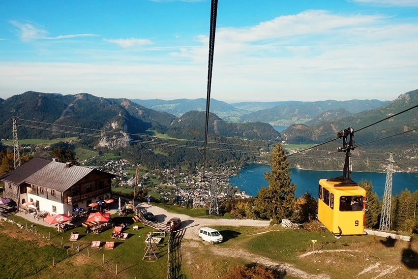 St Gilgen Cable Car in Austria