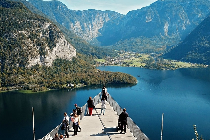 Viewing Platform over Hallstatt in Austria