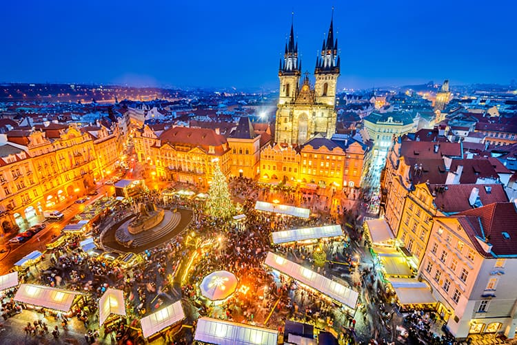 best family christmas vacations to Prague