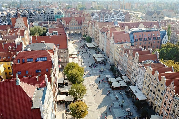 fun things to do in Gdansk - View from Historical Museum