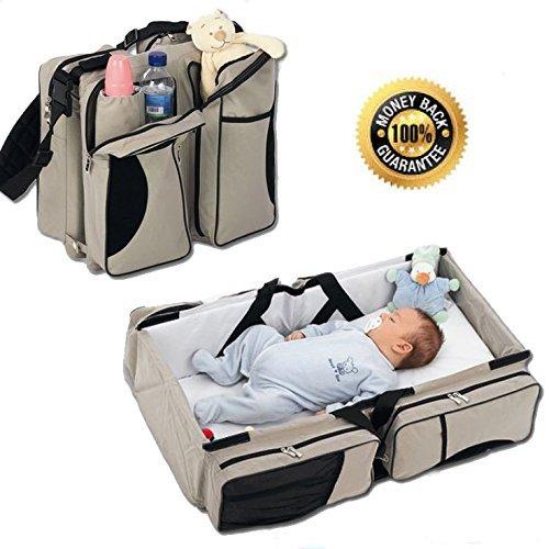 3 In 1 Diaper Bag Travel Bassinet Review
