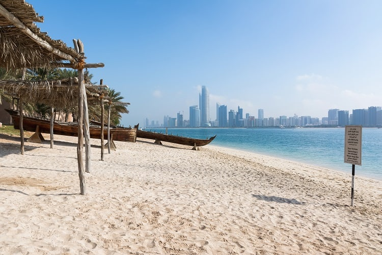 Abu Dhabi Corniche Beach with Kids