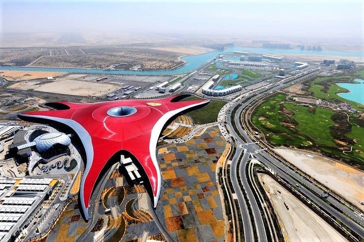 Abu Dhabi Ferrari World with kids