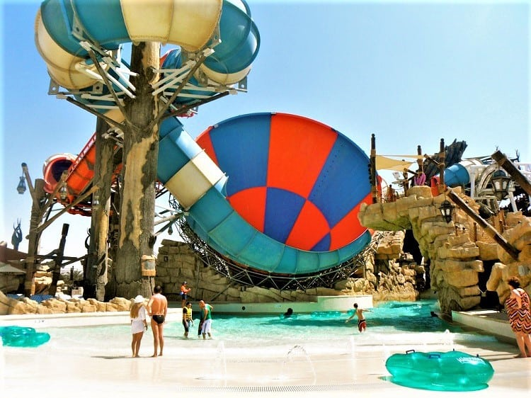 Abu Dhabi Yas Waterworld with kids