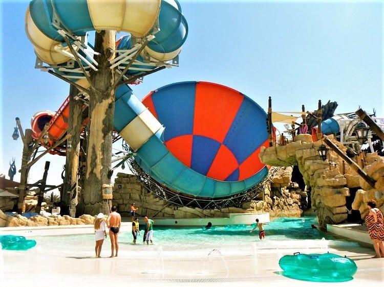 Abu Dhabi Yas Waterworld with kids