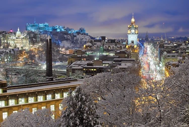 Edinburgh in winter with kids