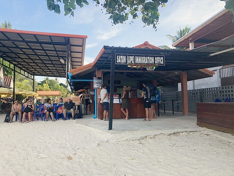 Immigration Office on Koh Lipe Thailand
