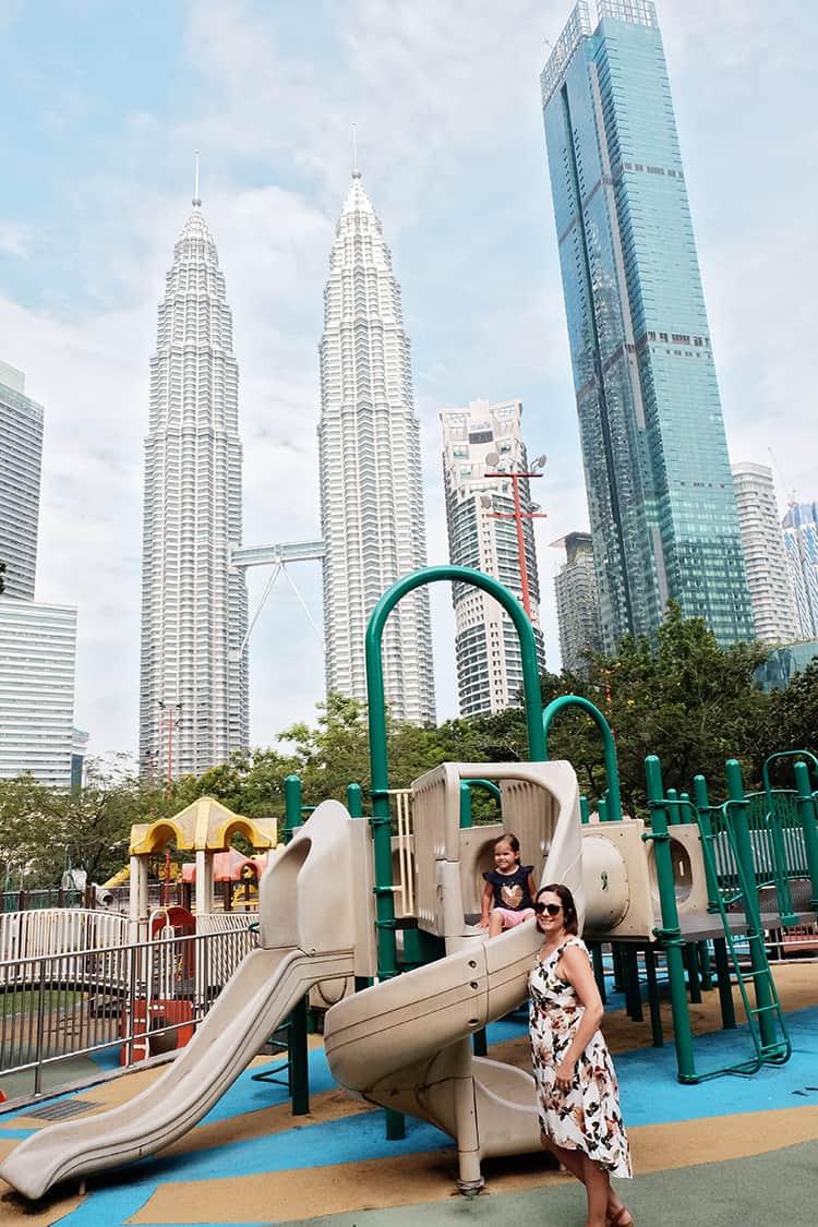 Petronas Towers Playpark in Kuala Lumpur with Kids
